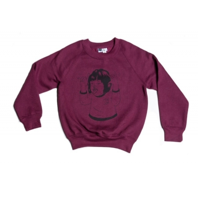 "Sweater ""Mini_ian"" bordeaux"