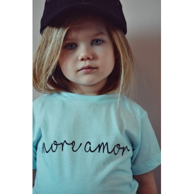 "T-Shirt ""More Amor"" sky blue"