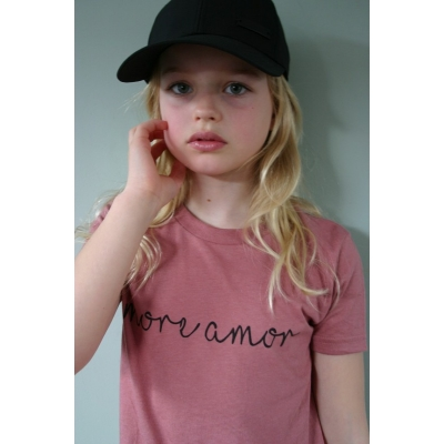 "T-Shirt ""More Amor"" bordeaux"