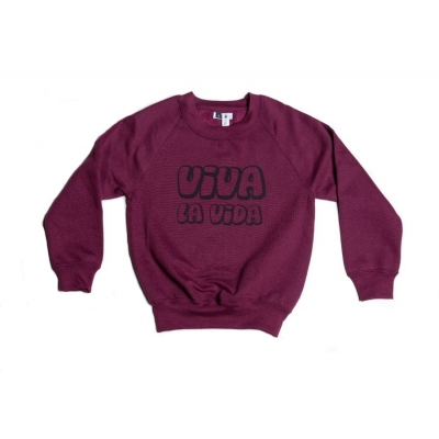 "Sweater ""Viva la Vida"" bordeaux"